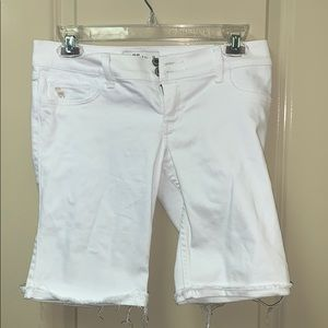 Girls Abercrombie kids size 16 cuffed jean shorts
